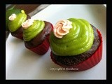 Butter-less Avocado Chocolate Cupcakes