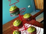 Devil's food Cupcakes with Avocado Lemon Glaze