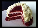 Flower Bouquet Red Velvet Cake