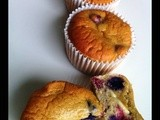 Gluten-free Blueberries & White Chocolate Muffins