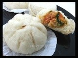 Steamed Bao with Otak-otak and Luncheon Meat crabstick filling