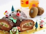Zespri® Christmas Kiwifruit Log Cake by Hankerie
