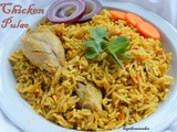 Chicken Pulao recipe / How to make chicken pulao with step by step pictures / Easy chicken pulao recipe / Chicken pilaf recipe