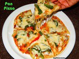 How to make pizza without oven / No bake pizza / Stove top pizza / Pan pizza recipe / How to make pizza on tawa / No oven Pizza / Home made pizza without oven with step by step pictures