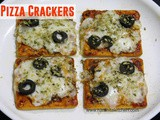 1 Minute Microwave Pizza | Pizza Crackers