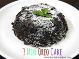 3 Minute Oreo Cake in Microwave Using 4 Ingredients