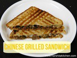 Chinese Grilled Sandwich Recipe/ Gourmet Sandwich Recipe/ Grilled Sandwich Recipe- Breakfast & Lunch Idea