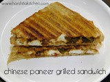 Chinese Paneer Grilled Sandwich, Easy Paneer Sandwich Recipes