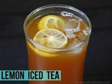 Iced Lemon Tea Recipe- Summer Drinks Recipe
