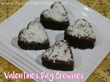 Valentine's Day Special Nutella-Coco Powder Brownies - Easy & Moist Bronwie Recipe Using Cocoa Powder