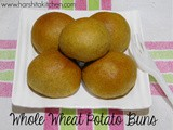 Whole Wheat Stuffed Potato Buns, Potato Rolls, Masala Buns Recipe