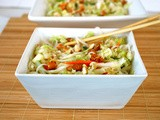 Napa Cabbage and Rice Noodle Salad