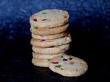 Egggless Tutti Frutti Cookies | Candied Fruit Cookies Recipe