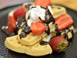 Homemade Eggless Waffles Recipe without Waffle Maker