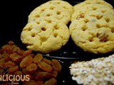 Oatmeal Raisin Cookies with Gulab Jamun Mixture