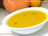 Naarangi Shorba - Orange flavored Pumpkin Carrot soup