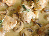 Roasted Chicken in Creamy Garlic Sauce