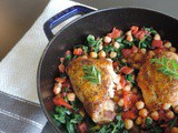 Roasted Chicken with Garbanzos