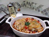 Roasted Chicken with White Bean Salad