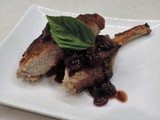 Roasted Pork Chop with Cranberry Sauce