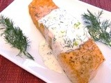 Roasted Salmon with Lime Dill Aioli