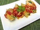 Spinach Stuffed Shells with Italian Sausage | Healthy from Scratch