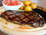 Celebrating first day of summer 2015 / Father's Day with a Colombian Grilled Sirloin Steak