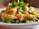 Rotini with Creamed Leek and Spinach