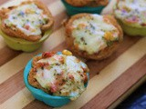 Bread Pizza Cups in Airfryer