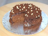 Eggless Chocolate Custard Cake