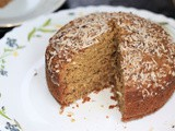 Eggless Coconut Cake - No Oven, No Maida, No Eggs