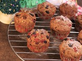 Eggless Whole Wheat Fruit Muffins
