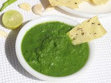 Green Chutney Recipe without Coriander or Mint