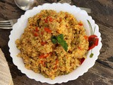 Vegetable Dalia Pulao | Weight Loss Recipe