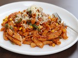 Whole Wheat Pasta in Red Sauce