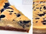 Baked Blueberry Swirl Cheesecake