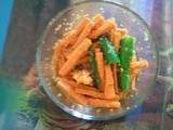 Carrot and Green Chili Pickle / Picklish post