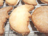 Egg less Cardamom Crescent Cookies