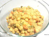 No Ginger Garlic or Tomato Chana Masala