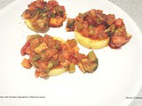 Polenta Disks with Roasted Vegetables in Marinara Sauce