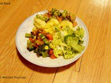 Polenta with Mexican Toppings and Salad