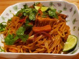 Quick Vegetarian Rice Noodles Pad Thai Style