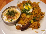 Soy Chunks Pulav with Boondi Raita