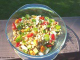 Sprouted wheat Salad with Feta