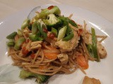Teriyaki Mock Chicken With Noddles & Vegetables