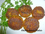 Chicken Keema Cutlets / Chicken burger cutlets