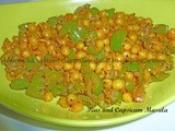 Peas and Capsicum Masala
