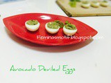 Avocado deviled egg