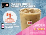 Dunkin' Donuts Announces New Game Day Offer for Philadelphia Flyers Fans