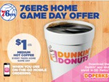 Dunkin' Donuts Launches New Game Day Offer for Philadelphia 76ers Fans